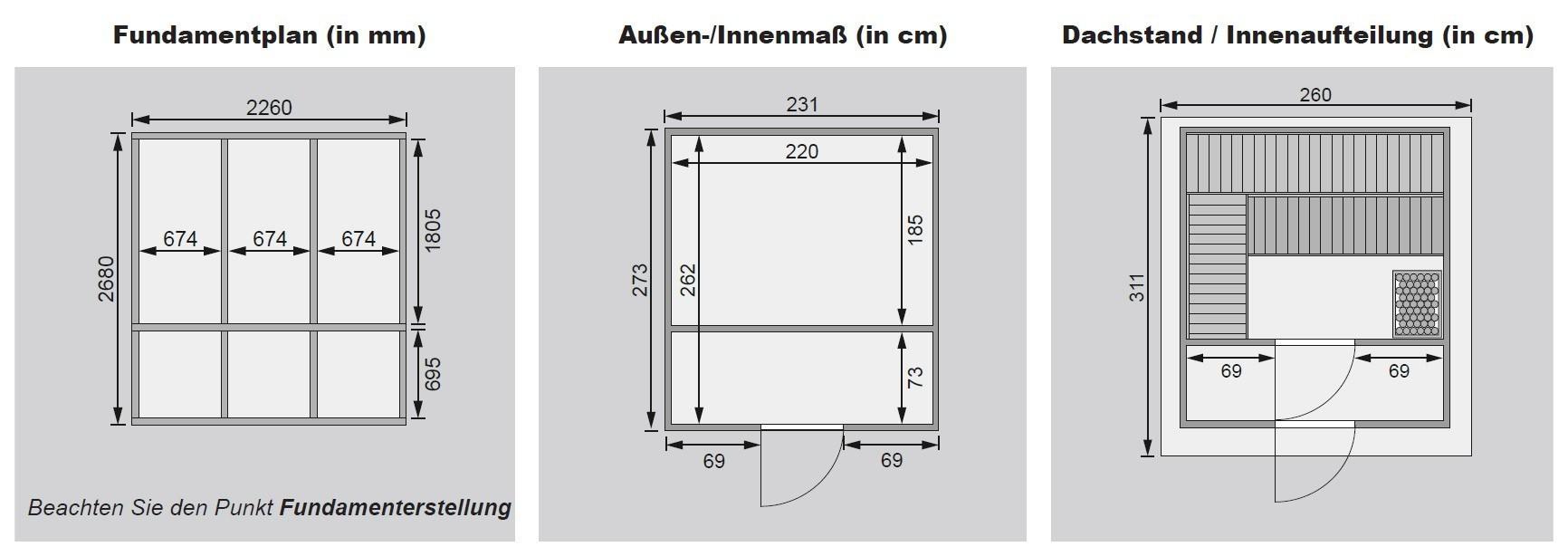 karibu gartensauna bosse 38mm satteldach mit vorraum. Black Bedroom Furniture Sets. Home Design Ideas