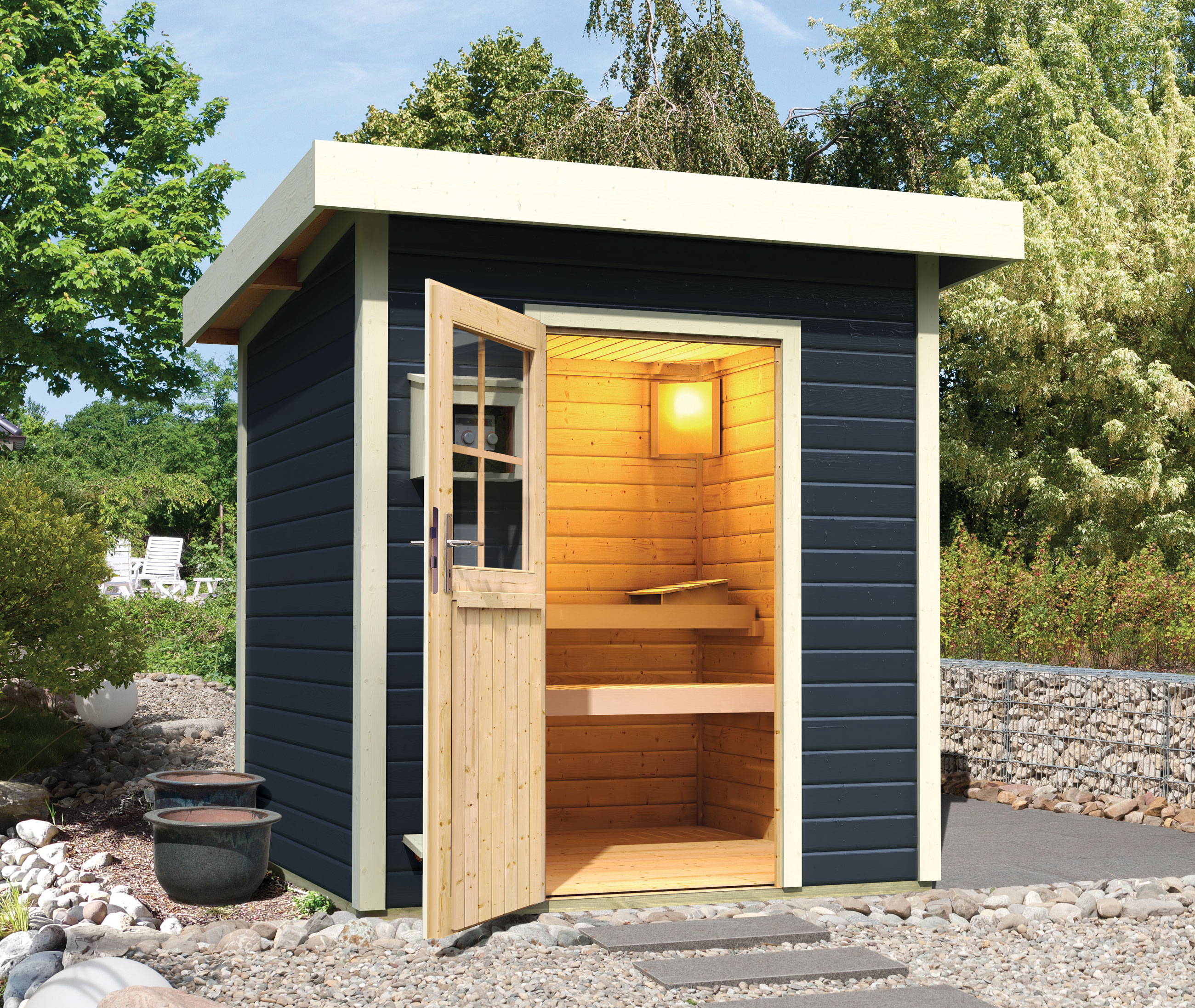 gartensauna mit ofen bo44 kyushucon. Black Bedroom Furniture Sets. Home Design Ideas