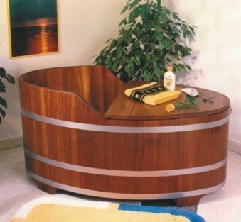 holzbadewanne achleitner alfa 135x74x70cm kambala holz. Black Bedroom Furniture Sets. Home Design Ideas
