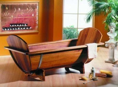 holzbadewanne omgea 200x80x58 cm kambala holz ab u berlaufgarnitur bei. Black Bedroom Furniture Sets. Home Design Ideas