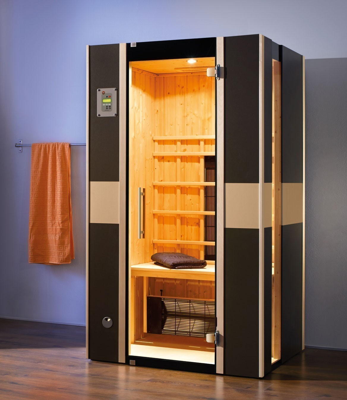 weka w rmekabine infrarotkabine 543 gr 1 graphit keramikstrahler bei. Black Bedroom Furniture Sets. Home Design Ideas