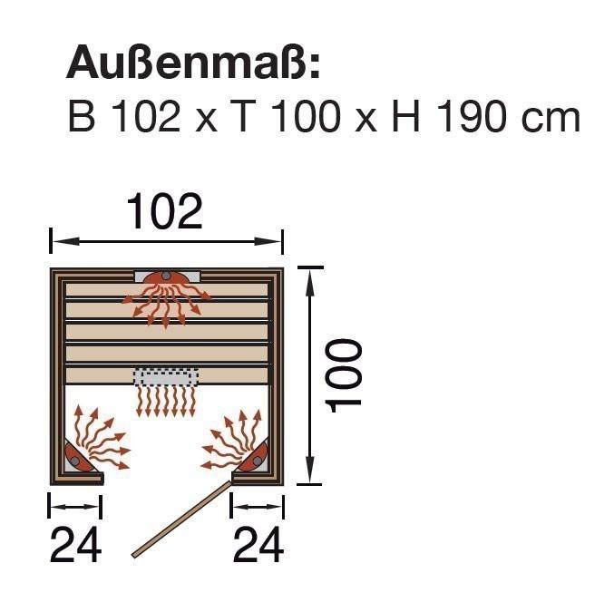 weka w rmekabine infrarotkabine 550 gr 1 mit keramikstrahler bei. Black Bedroom Furniture Sets. Home Design Ideas