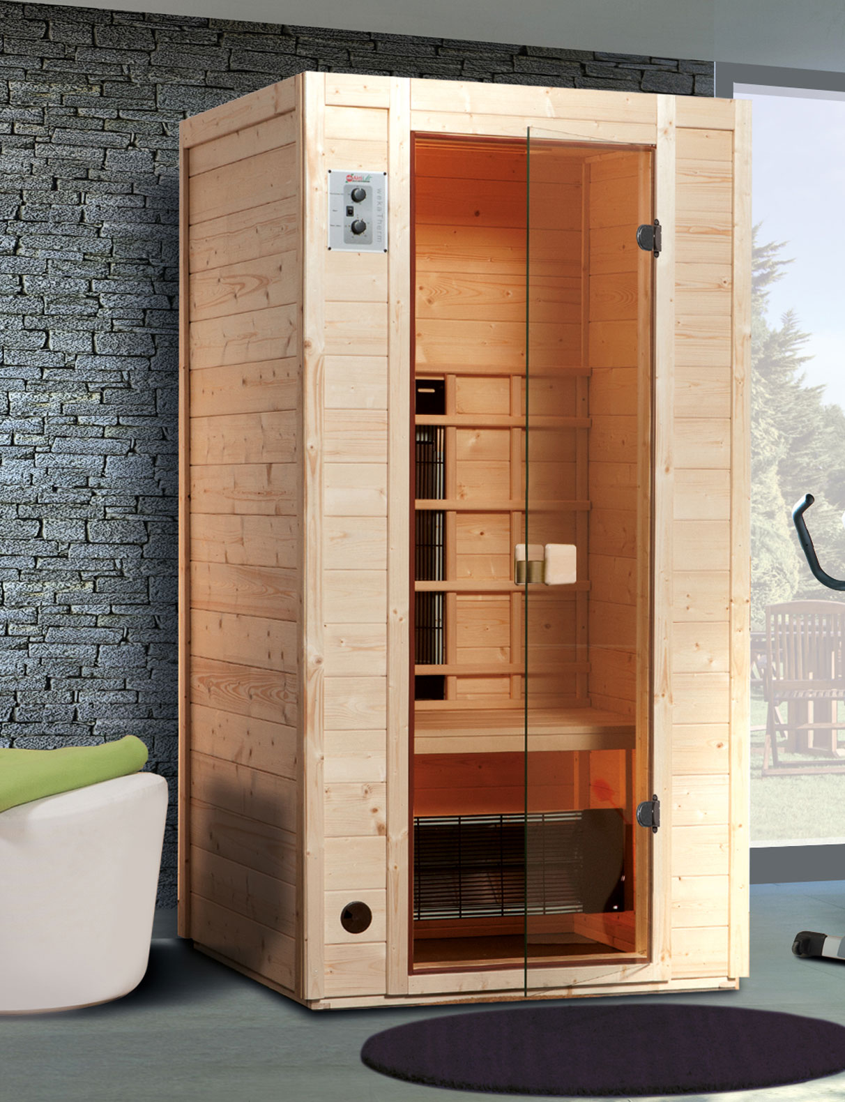 weka w rmekabine infrarotkabine 550 gr 1 mit keramikstrahler bild 1. Black Bedroom Furniture Sets. Home Design Ideas