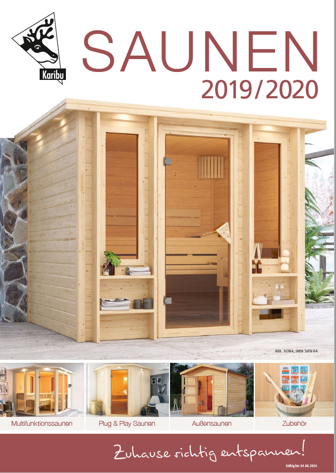 katalog karibu sauna w rmekabinen und zubeh r 2015 2016. Black Bedroom Furniture Sets. Home Design Ideas