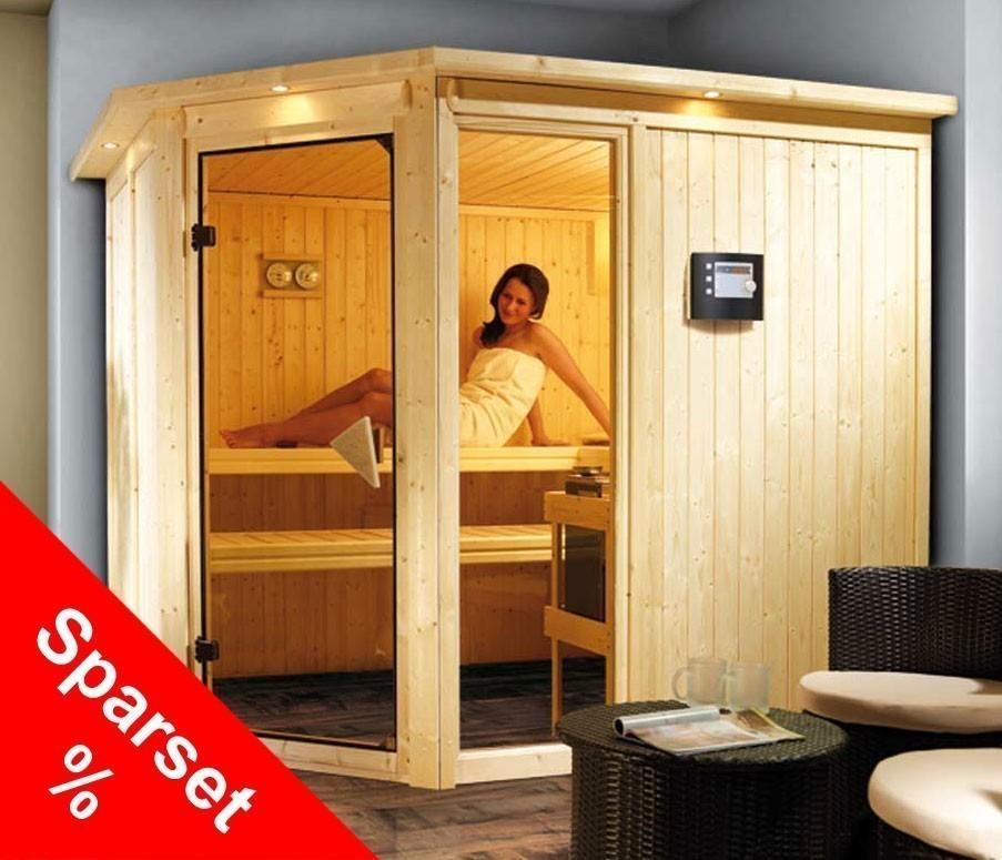 karibu elementsauna sauna fiona 3 sparset bei. Black Bedroom Furniture Sets. Home Design Ideas