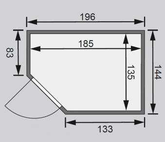 karibu sauna cilja 230 volt mit saunaofen 3 6kw intern bei. Black Bedroom Furniture Sets. Home Design Ideas