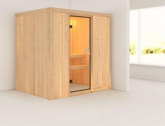 karibu sauna fanja 68mm 230v ohne ofen classic t r bei. Black Bedroom Furniture Sets. Home Design Ideas