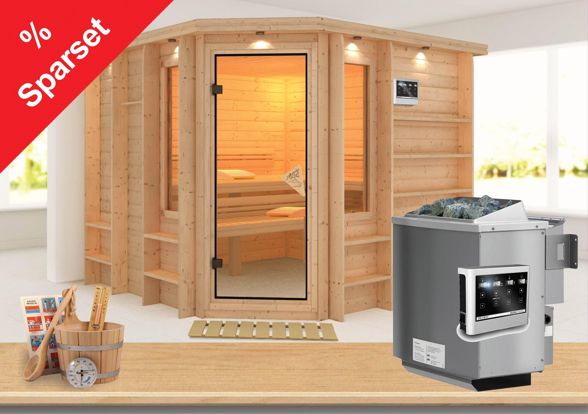 karibu sauna marona 40mm sparset bei. Black Bedroom Furniture Sets. Home Design Ideas