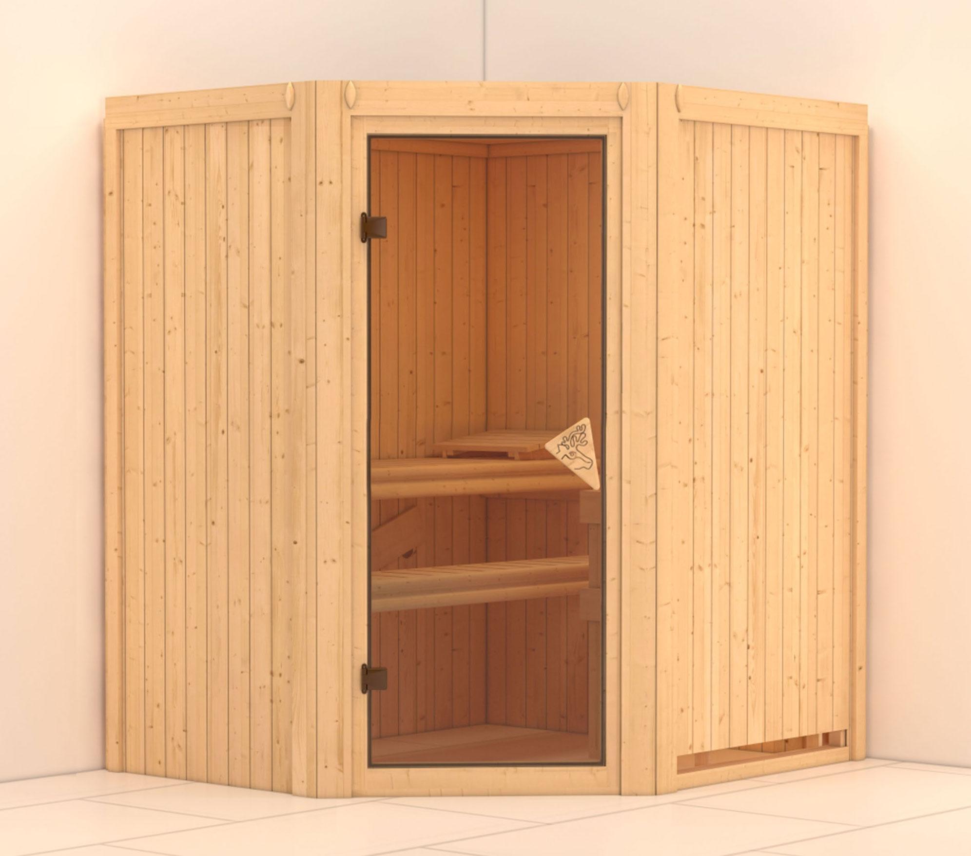karibu sauna taurin 68mm ohne ofen classic t r bei. Black Bedroom Furniture Sets. Home Design Ideas