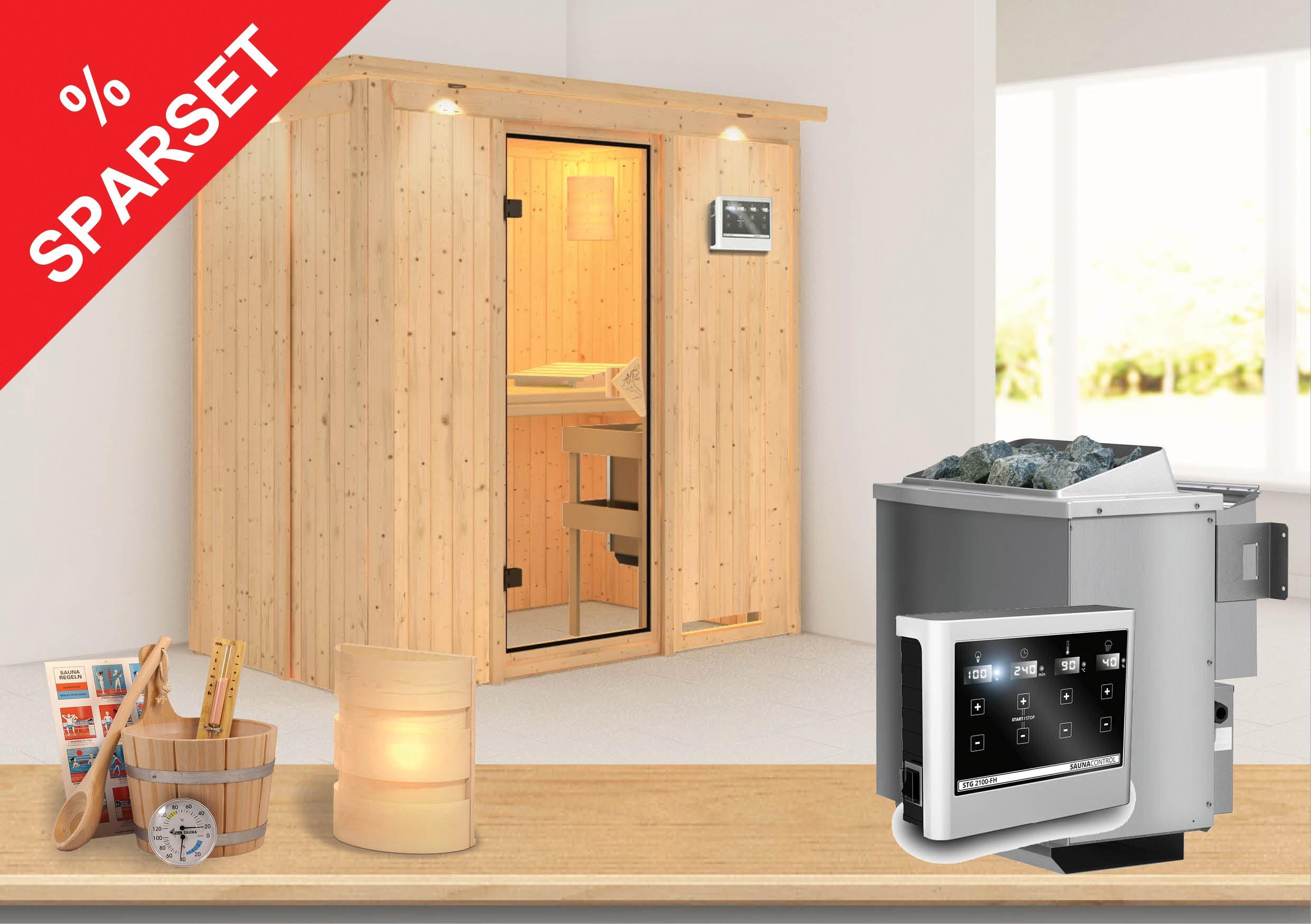 karibu sauna variado 68mm sparset bei. Black Bedroom Furniture Sets. Home Design Ideas