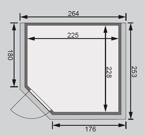 massivholzsauna marona premium karibu 40mm mit bio saunaofen 9kw bei. Black Bedroom Furniture Sets. Home Design Ideas
