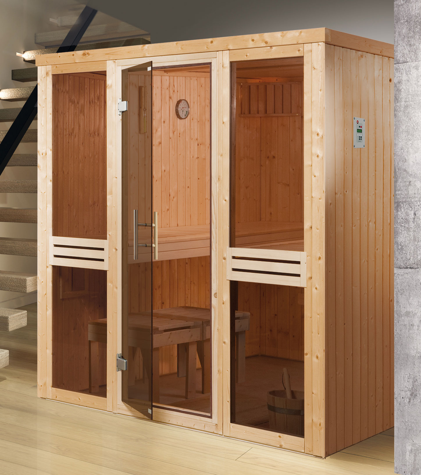 weka sauna 506 gt gr 3 68mm ohne ofen mit glast r bei. Black Bedroom Furniture Sets. Home Design Ideas