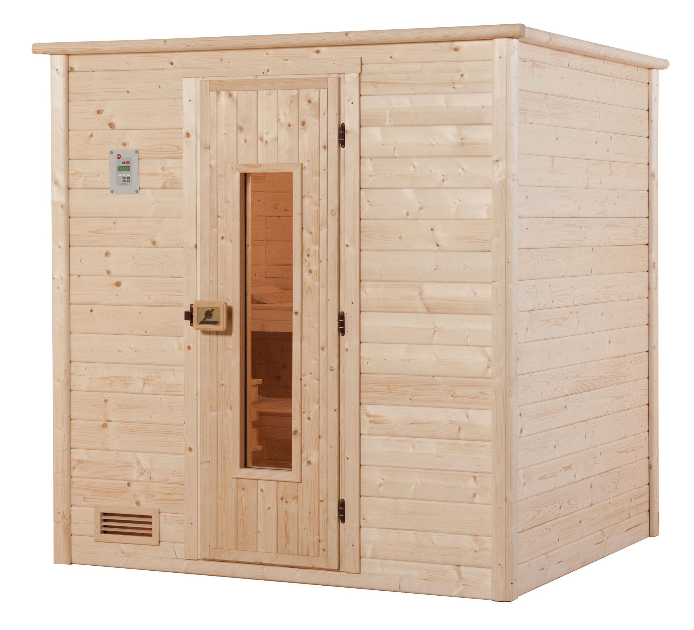 weka sauna 531 ht gr 4 massivholzsauna ohne saunaofen bei. Black Bedroom Furniture Sets. Home Design Ideas
