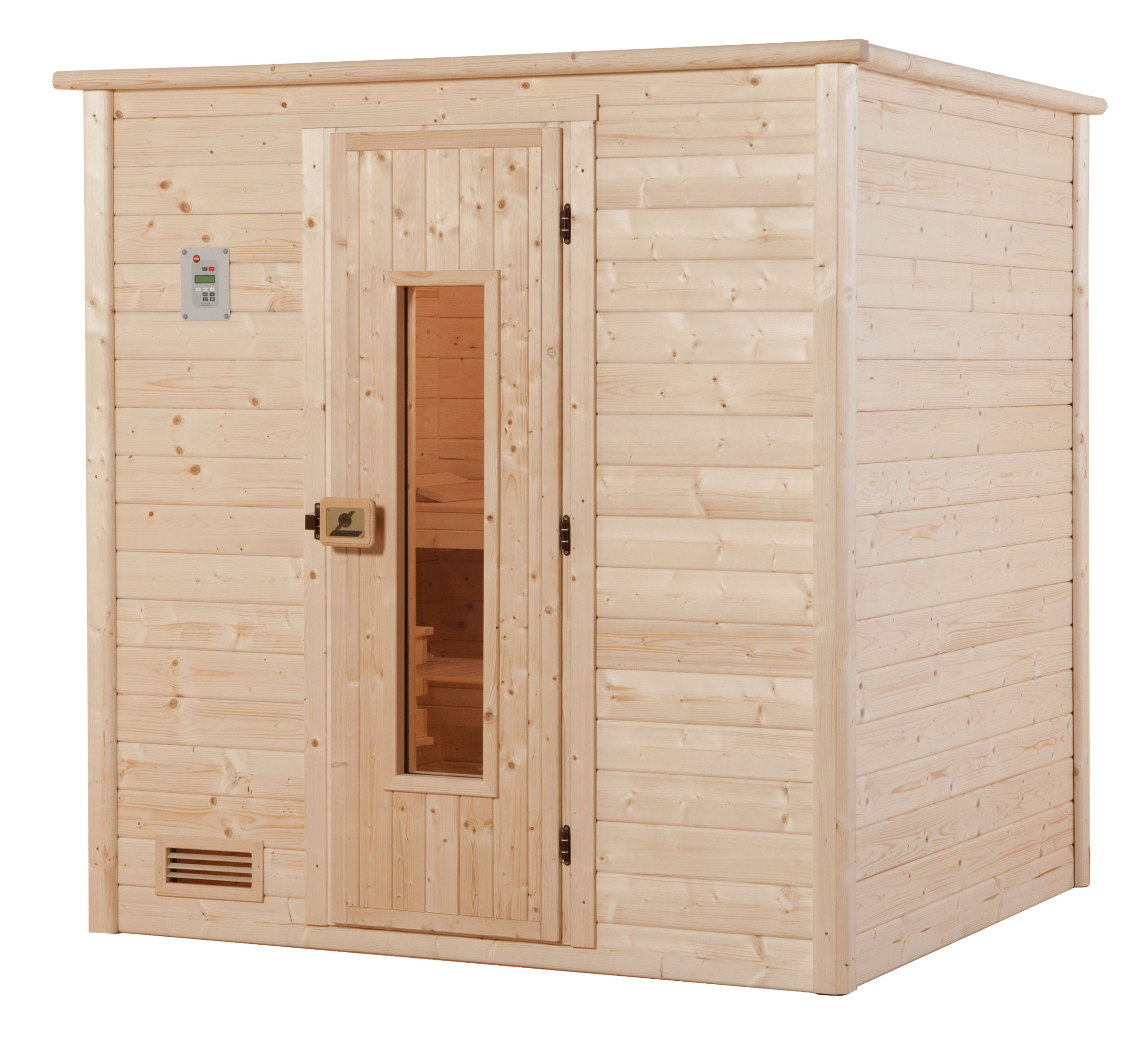 weka sauna 531 ht gr 4 ohne ofen mit holzt r bei. Black Bedroom Furniture Sets. Home Design Ideas