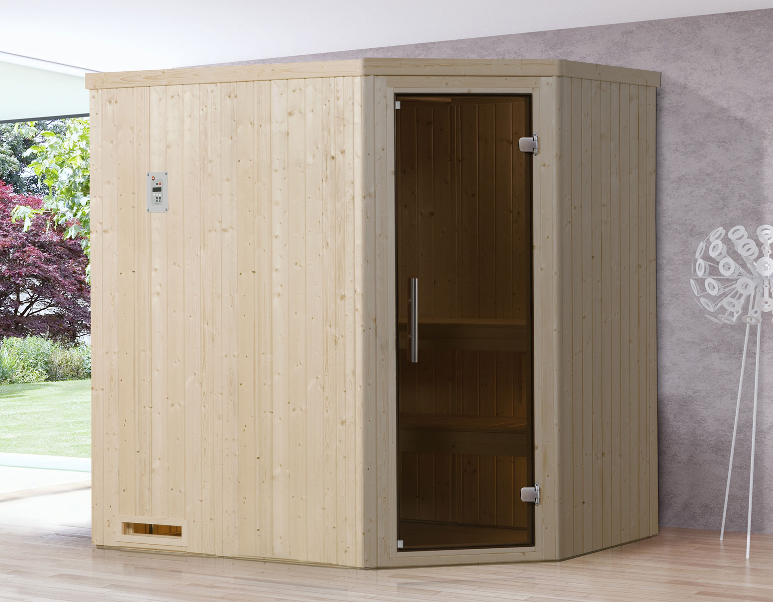 weka sauna 508 gt gr 2 68mm ohne ofen mit glast r bei. Black Bedroom Furniture Sets. Home Design Ideas