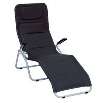 mfg saunaliege b derliege klappbar pool 2 silber schwarz stahl bei. Black Bedroom Furniture Sets. Home Design Ideas