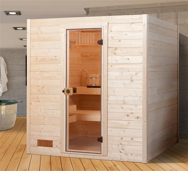 Massivholz Sauna Weka 38 mm 537 GT Gr.2 ohne Saunaofen 537.2015.40.00