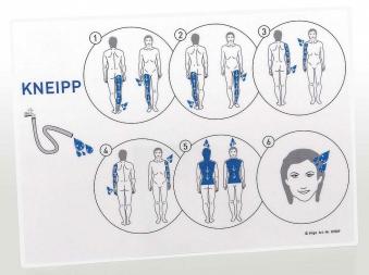 Eliga Informationstafel zum Kneippablauf international laminiert