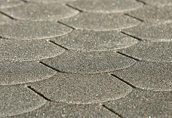 Biberschwanz Bitumen - Dachschindeln Weka anthrazit Bild 1