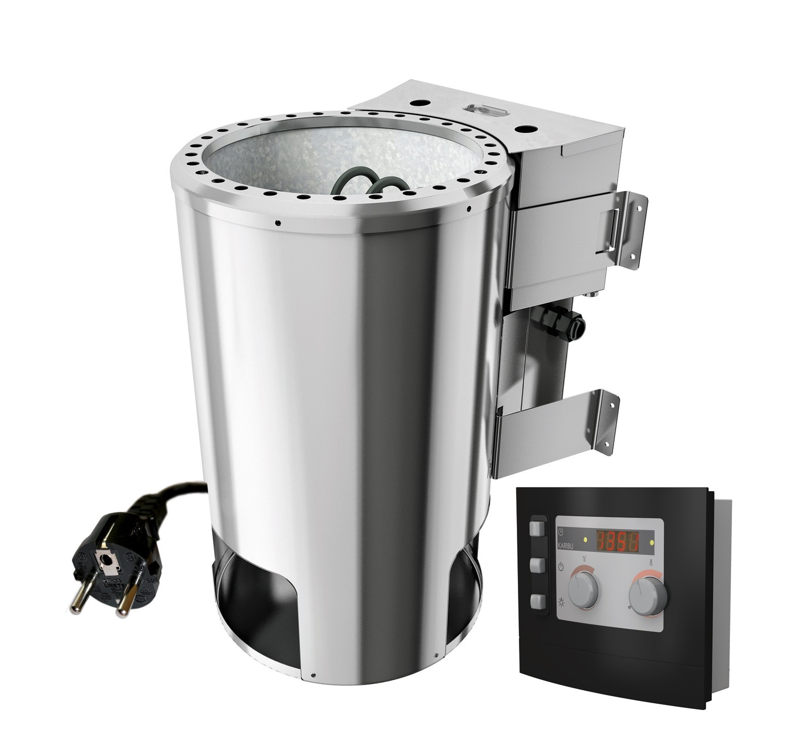 Saunaofen BIO Kombi Plug & Play 230V Karibu mit ext. Steuerung Modern Bild 1