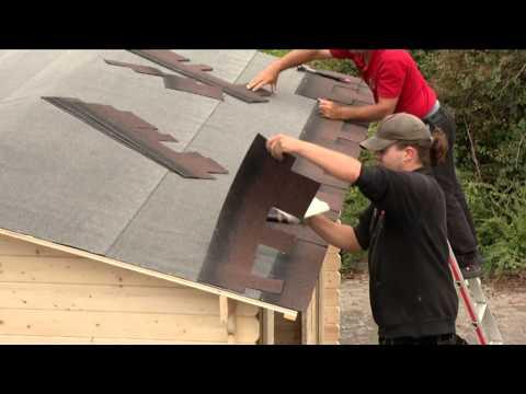 Bitumen Dachschindeln Karibu rechteckig dunkelgrün 3m² Video Screenshot 649