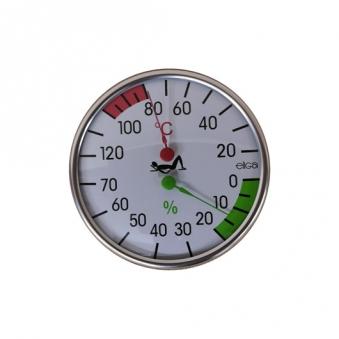 Eiga Klimamesser für Sauna 120mm weiß Bild 1