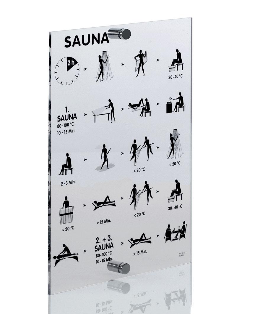 Eliga Baderegeltafel für Sauna international auf Acrylglas Bild 1