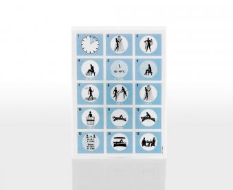 Eliga Baderegeltafel international für Dampfbad in Bildsprache Bild 1
