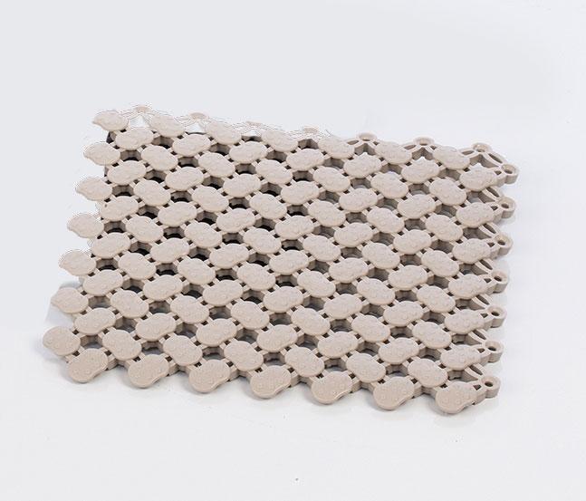 Eliga Bodenmatte PVC 20x20cm hellgrau Bild 1