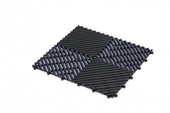 Eliga Bodenmatte PVC 30x30cm schwarz Bild 1