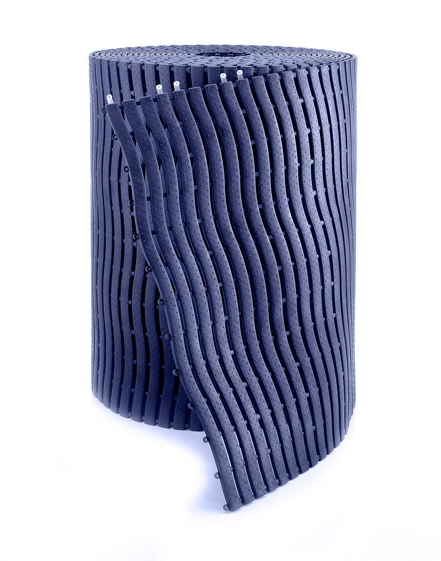 Eliga Bodenmatte im Rollenformat 100x58cm dunkelblau Bild 1