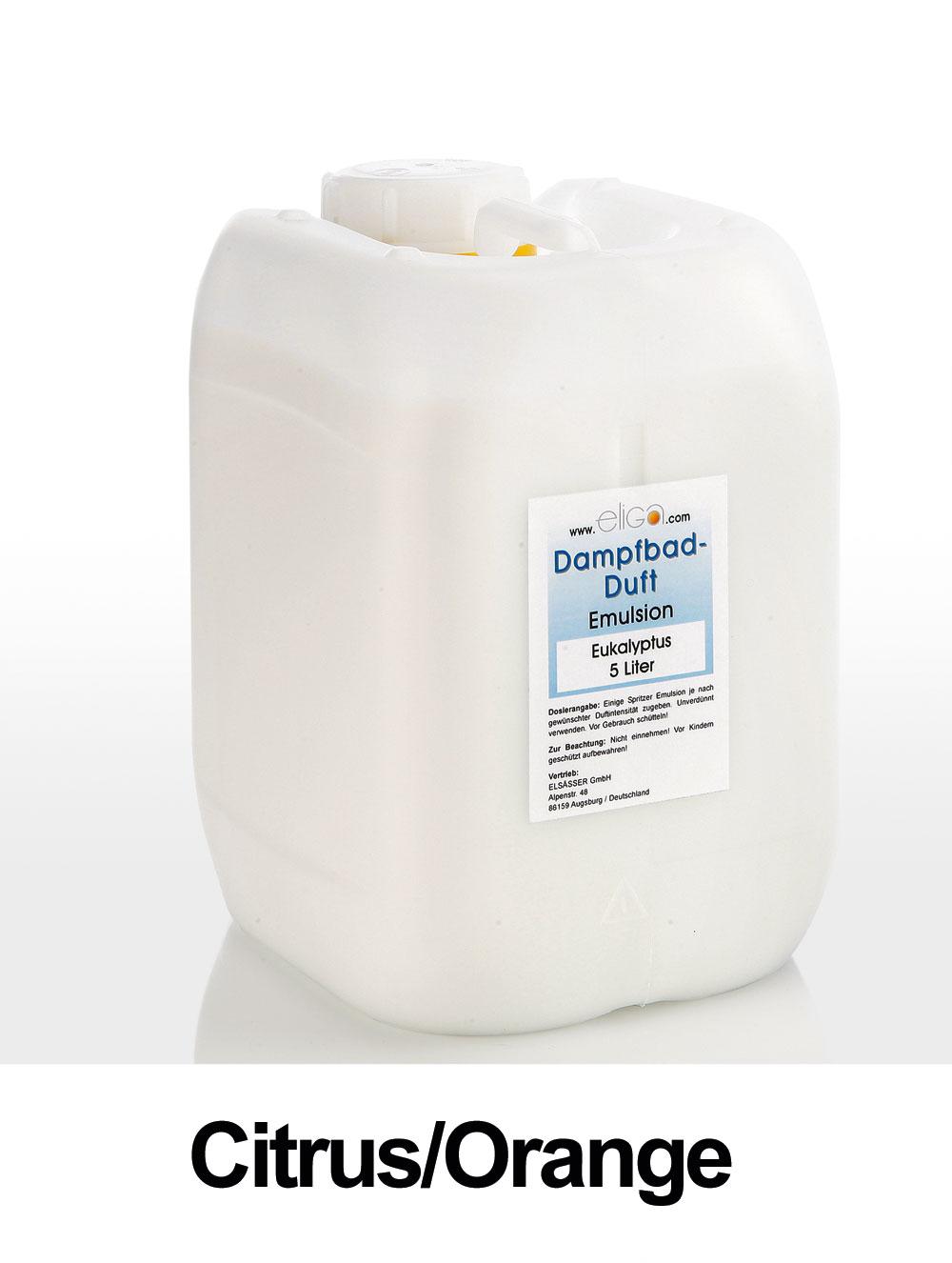 Eliga Dampfbad Duft Citrus / Orange 5 Liter Bild 1