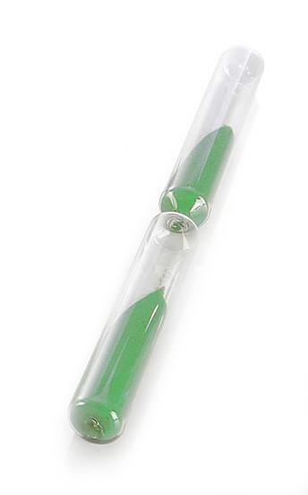 Eliga Glaszylinder für Sanduhren Laufzeit 15 Minuten Sandfarbe grün Bild 1