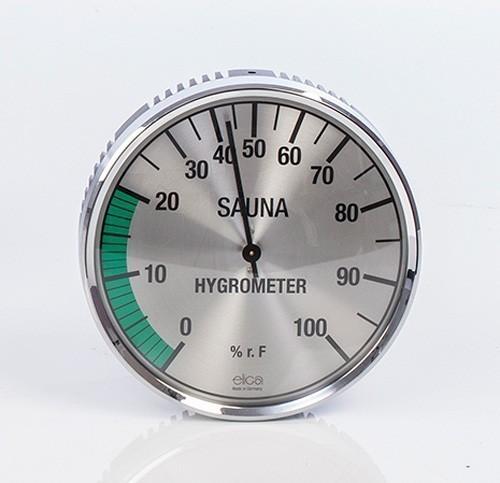 Eliga Hygrometer für Sauna Ø135mm silber Bild 1