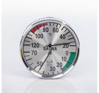 Eliga Klimamesser für Sauna Ø135mm silber Bild 1