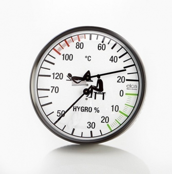 Eliga Klimamesser für Sauna 135 mm schwarz Bild 1