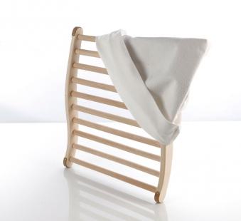 Eliga Rückenlehne ergonomische Form mit Frotteebezug für Sauna Bild 1