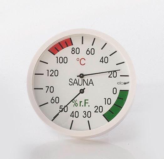 Eliga Thermometer für Sauna Ø120mm weiß Bild 1