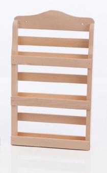Eliga Wandregal für Sauna aus Holz natur 3 Fächer Bild 1