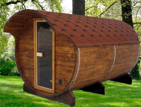 Fasssauna - liegendes Saunafass 330 ohne Saunaofen Bild 1