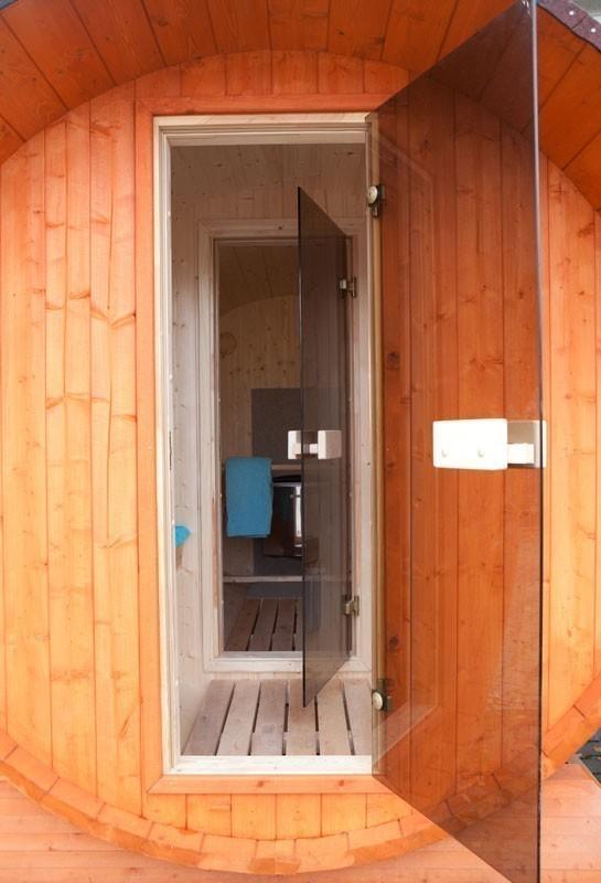 Fasssauna - liegendes Saunafass 330 ohne Saunaofen Bild 4