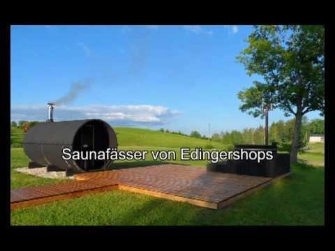 Fasssauna - liegendes Saunafass 330 ohne Saunaofen Video Screenshot 59