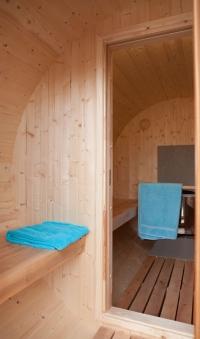 Fasssauna - liegendes Saunafass 330 ohne Saunaofen Bild 3