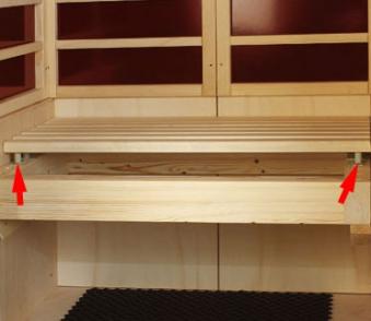 Federelemente 110N für Sitzflächen 10 Stück für Sauna Bild 1
