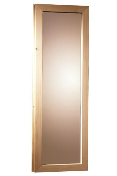 Fenster bronziert für Karibu 40mm Sauna 42x122cm Bild 1