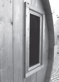 Fenster für Karibu Saunafass 25x60cm Bild 2