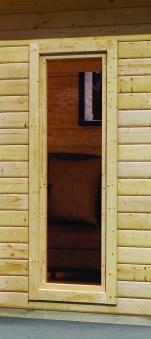 Gartensauna Karibu Saunahaus Nordin 38mm ohne Saunaofen Bild 9