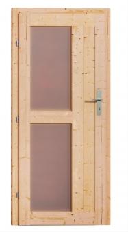 Gartensauna Karibu Saunahaus Skrollan 1 38mm Ofen 9kW int Tür Milchgla Bild 5