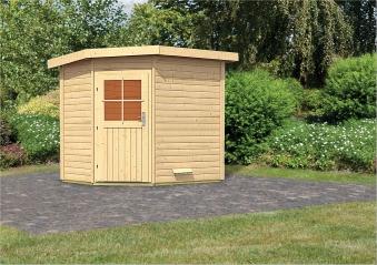 Gartensauna WoodFeeling Saunahaus Mayla 38mm ohne Saunaofen Bild 1