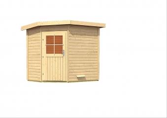 Gartensauna WoodFeeling Saunahaus Mayla 38mm ohne Saunaofen Bild 2